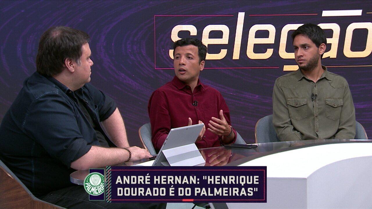 André Hernan afirma que Henrique Dourado é do Palmeiras
