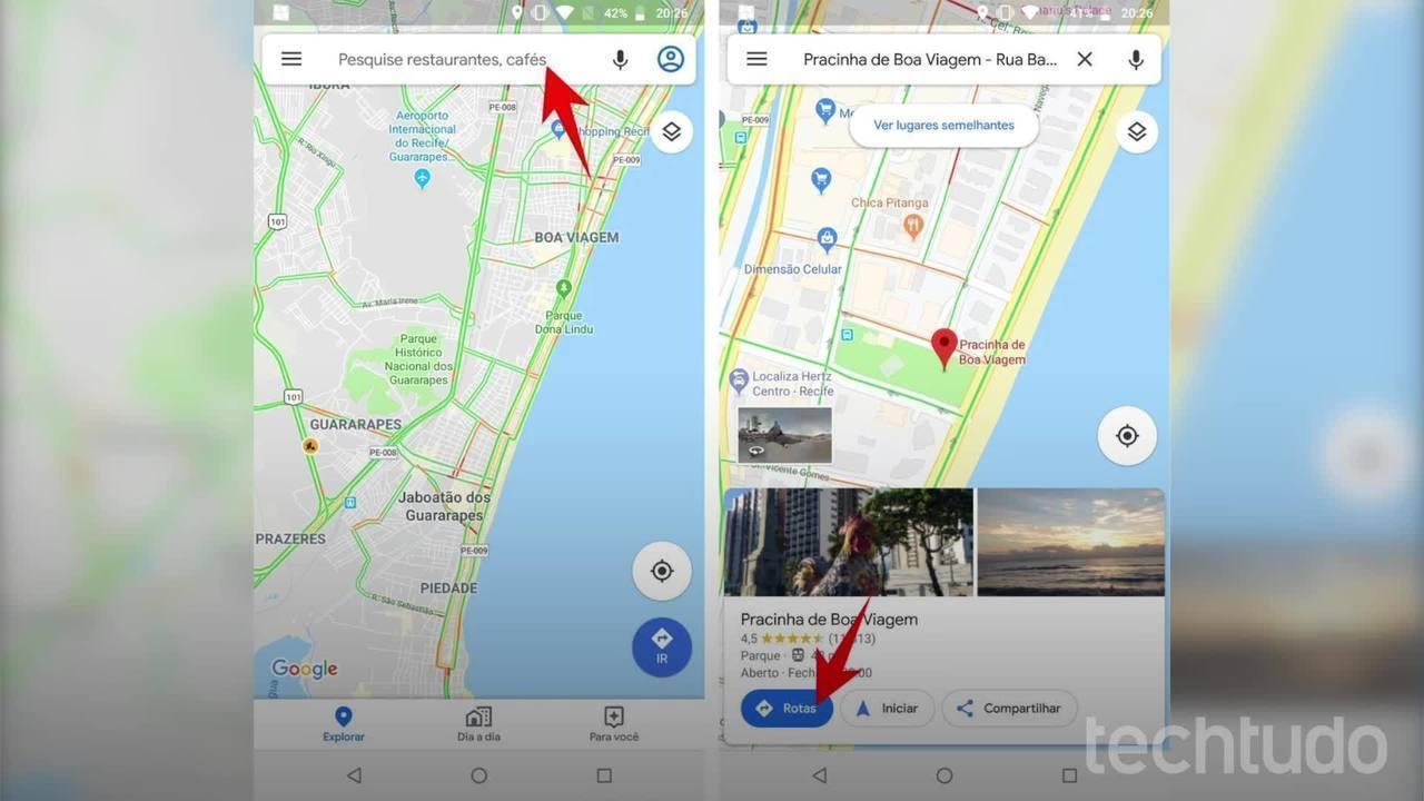 Como saber se o ônibus está chegando com o Google Maps