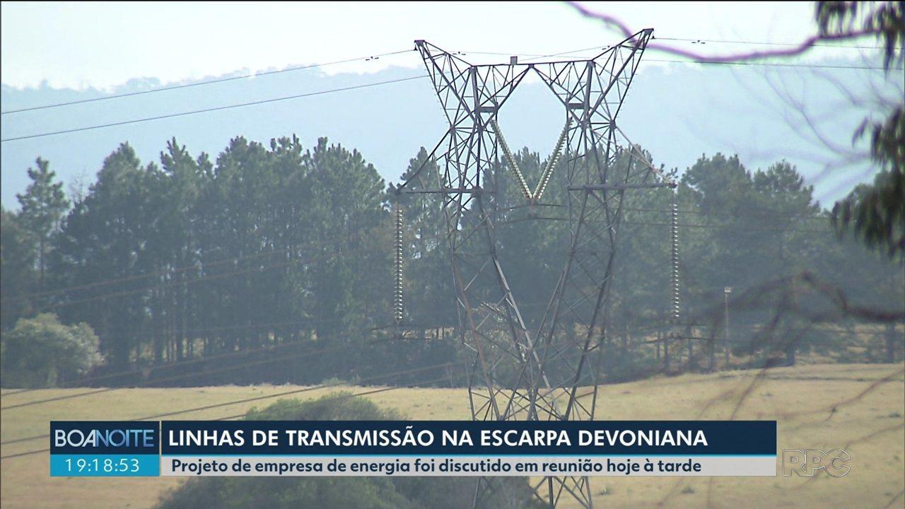 Novas linhas de transmissão de energia devem passar por APA da Escarpa Devoniana