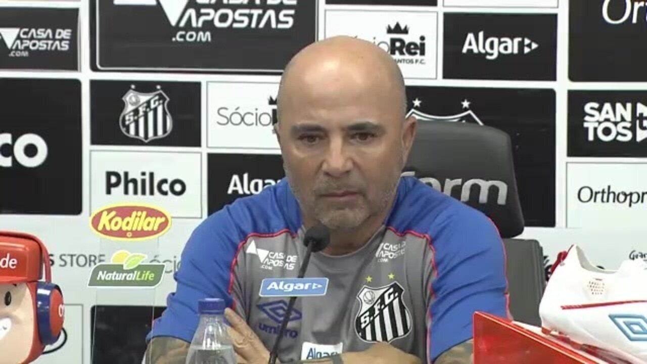 Entrevista coletiva de Jorge Sampaoli, técnico do Santos - 26/07/2019