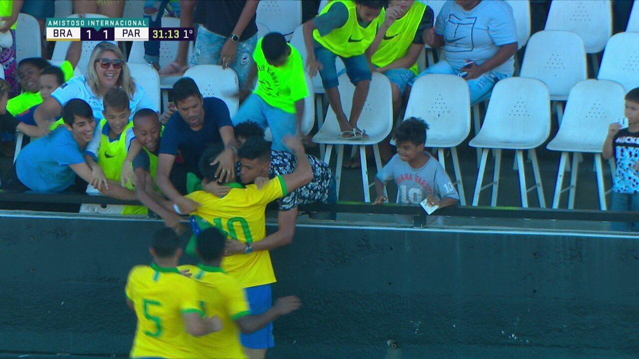Gol, passes e finalizações: veja os momentos de Reinier em amistoso da Seleção sub-17 contra o Paraguai