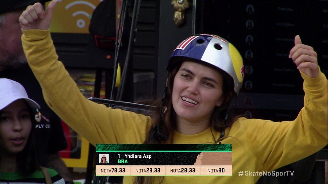 Melhor volta de Indyara Asp na final feminina da segunda etapa do STU Skate Park