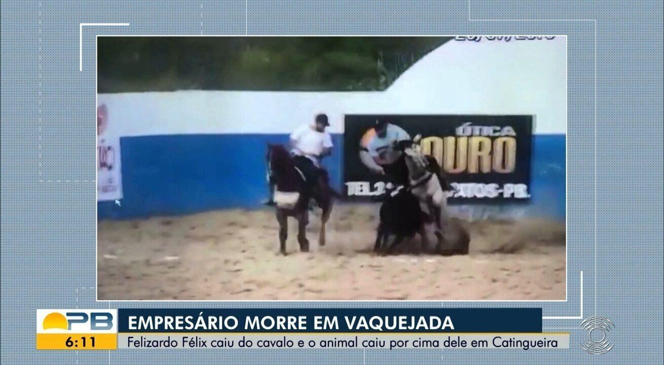 Empresário morre após cair de cavalo durante vaquejada, em Catingueira, PB