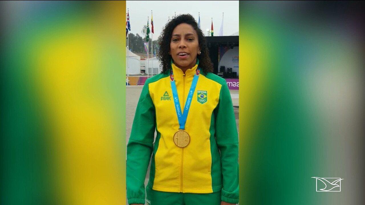 Ana Paula fala sobre a conquista da medalha de ouro nos jogos Pan-Americanos no Peru