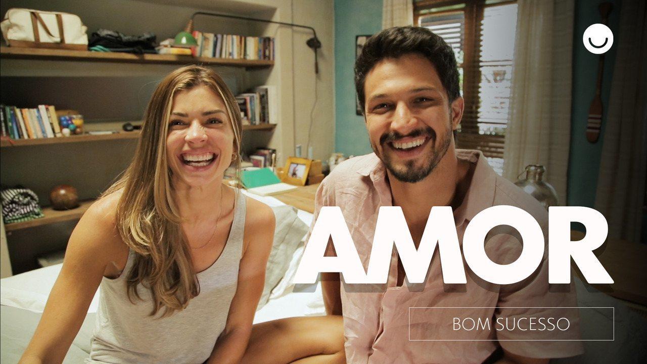 Grazi Massafera e Romulo Estrela comentam cena de amor entre Paloma e Marcos