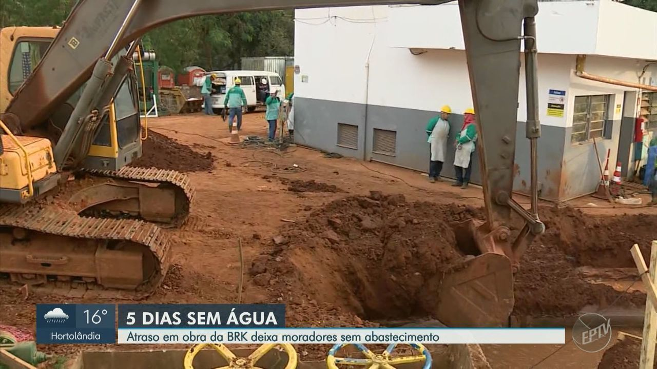 Atraso em obra deixa moradores de Sumaré sem abastecimento de água