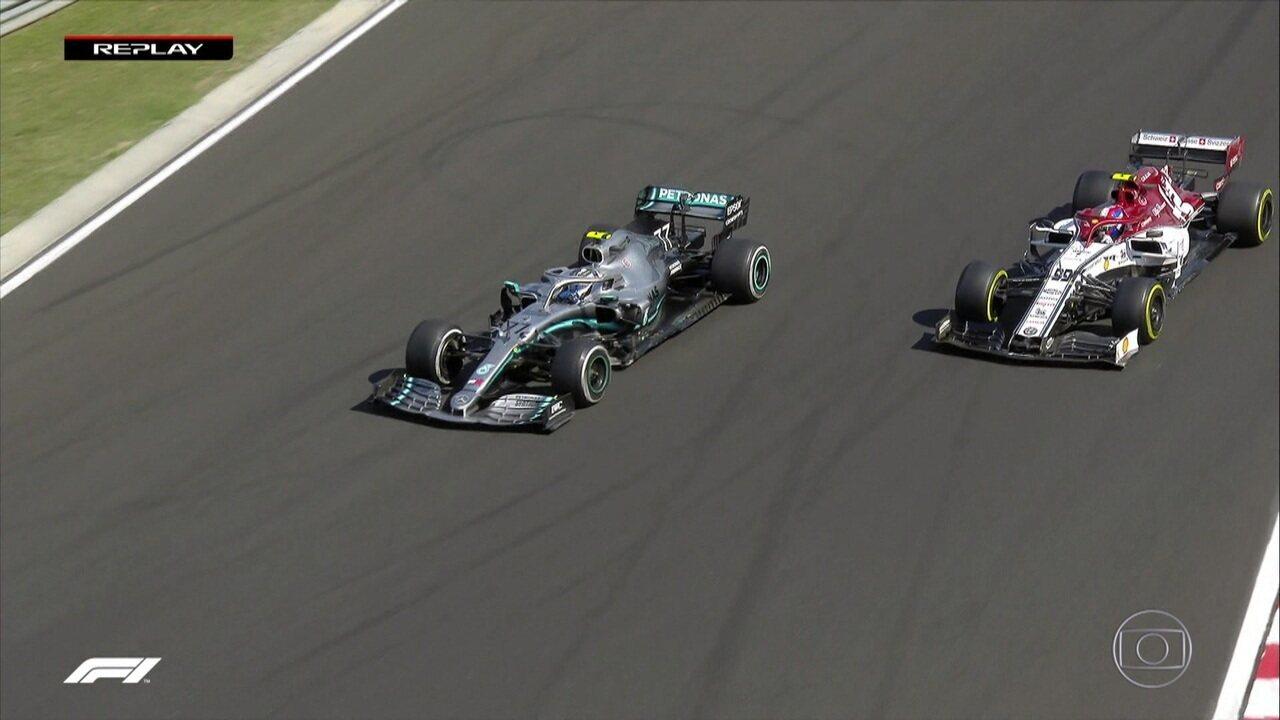 Bottas segue se recuperando na corrida e passa por Giovinazzi e Stroll