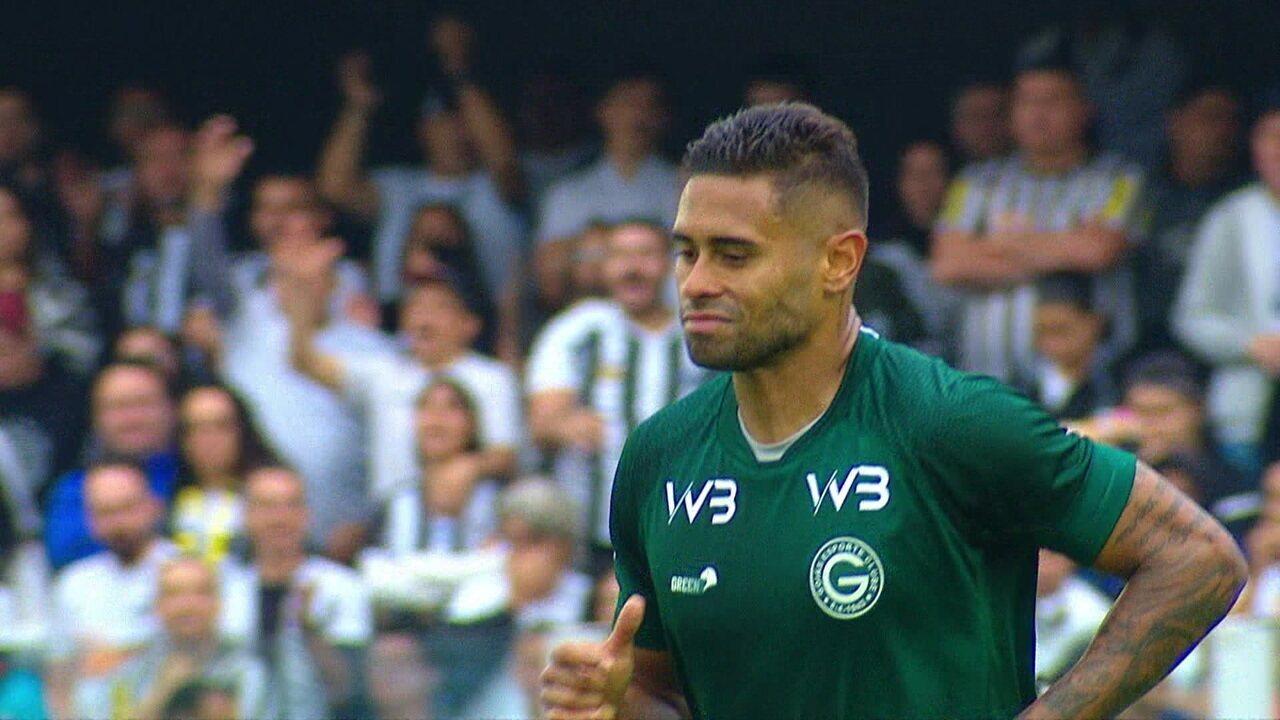 Os gols de Santos 6 x 1 Goiás pela 13ª rodada do Brasileirão