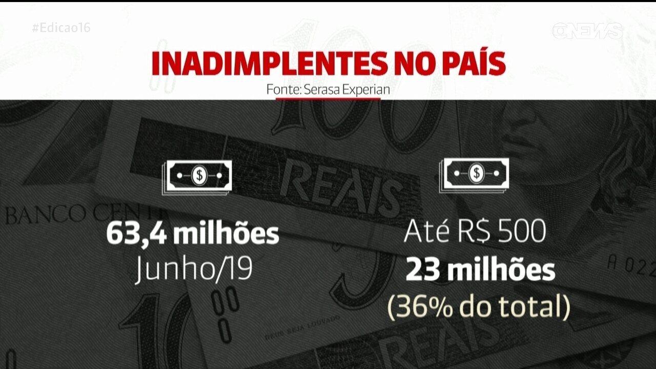 Saques do FGTS: 23 milhões de inadimplentes têm dívidas de até R$ 500