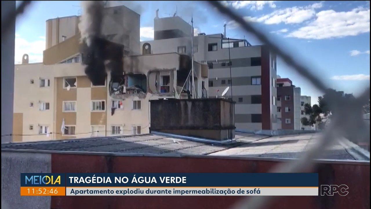 Polícia divulga laudo pericial da explosão em apartamento no Água Verde