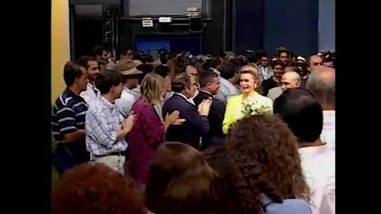 Reveja inauguração dos Estúdios Globo em 1995