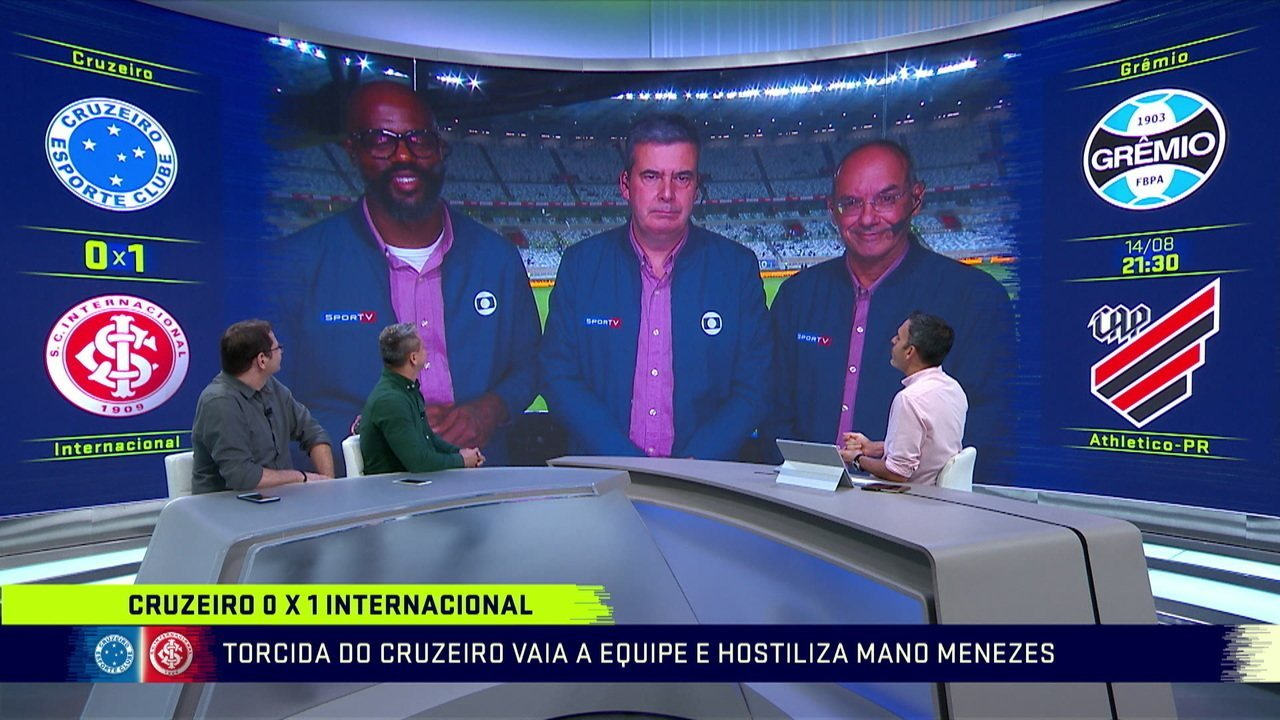 Comentaristas analisam vitória do Internacional sobre o Cruzeiro na Copa do Brasil