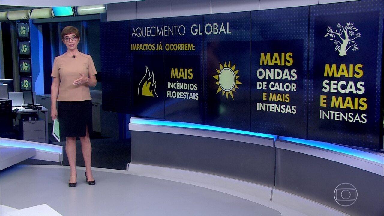 Relatório da ONU sobre aquecimento global aponta riscos para o Brasil
