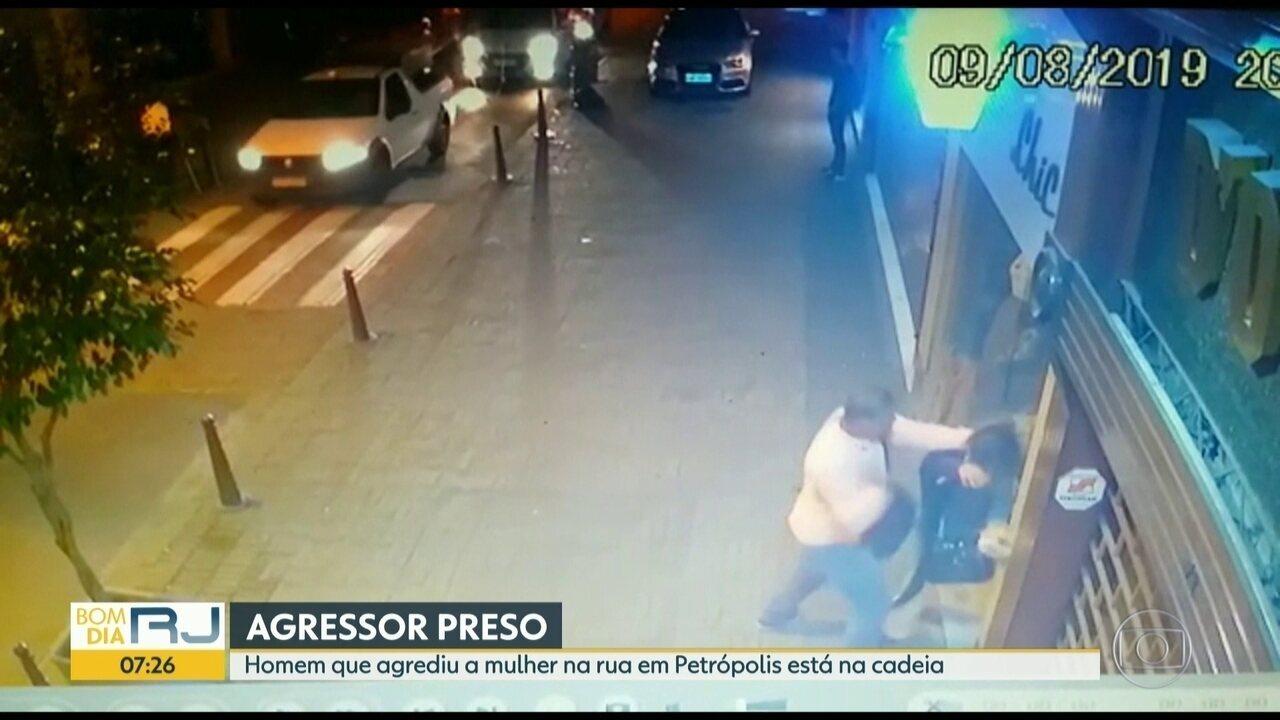 Polícia prende homem que agrediu violentamente a companheira em Petrópolis