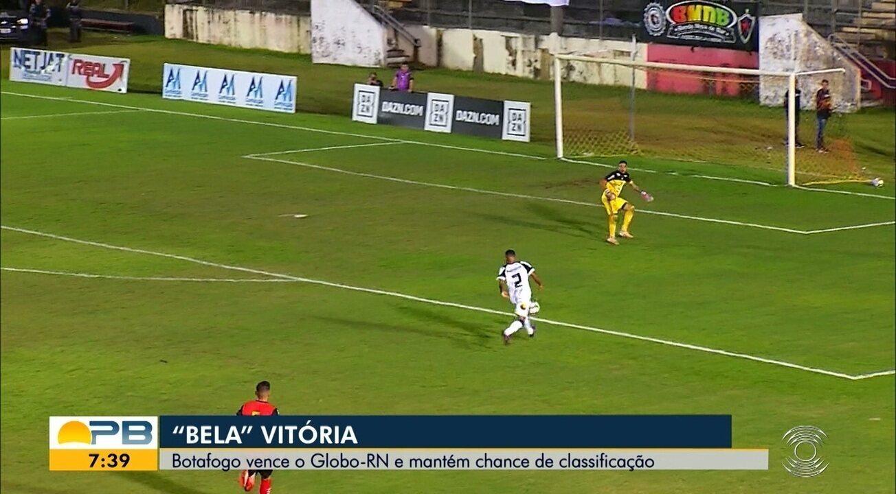 Assista aos gols da vitória do Botafogo-PB sobre o Globo FC