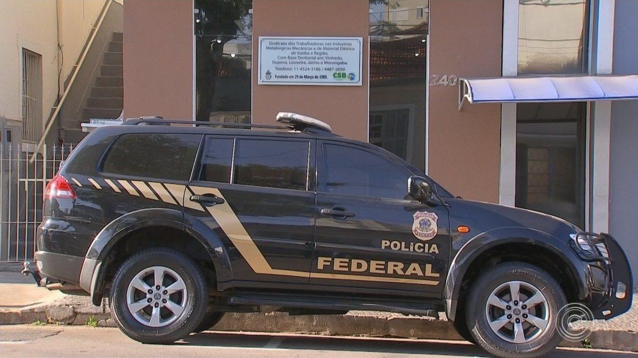 Líderes sindicais e advogado são presos em operação da PF na região de Jundiaí