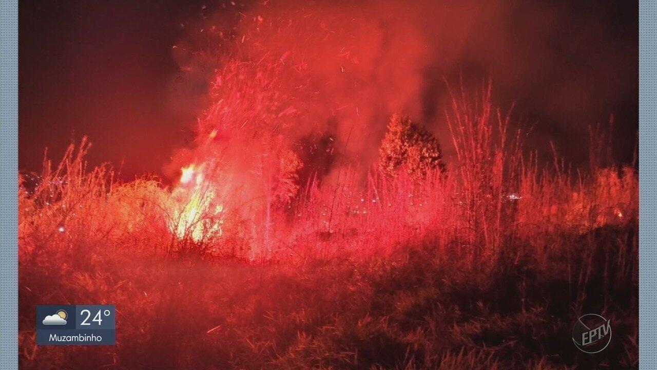 Incêndio atinge área do Monte das Oliveiras em Alpinópolis