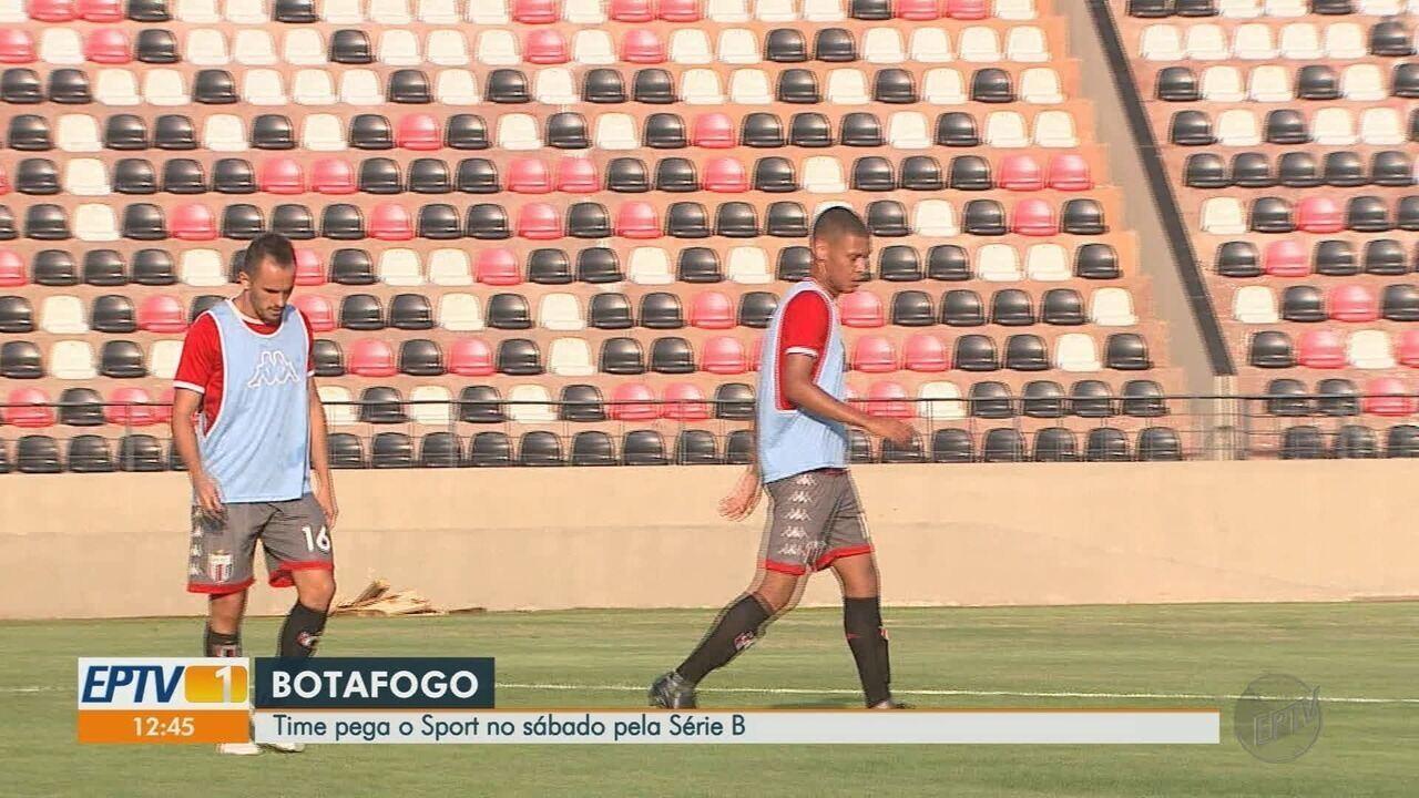 Botafogo-SP treina pela última vez antes de viajar ao Recife
