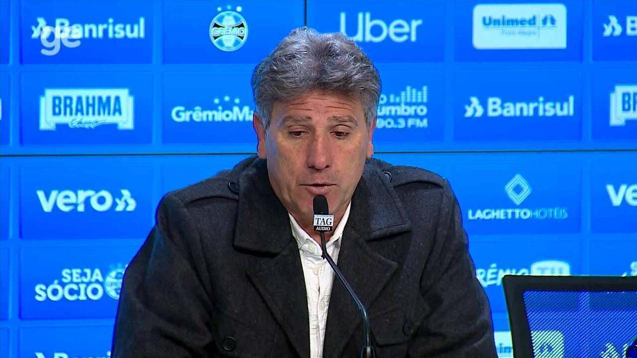 Confira trechos da coletiva do técnico Renato Gaúcho após vitória do Grêmio
