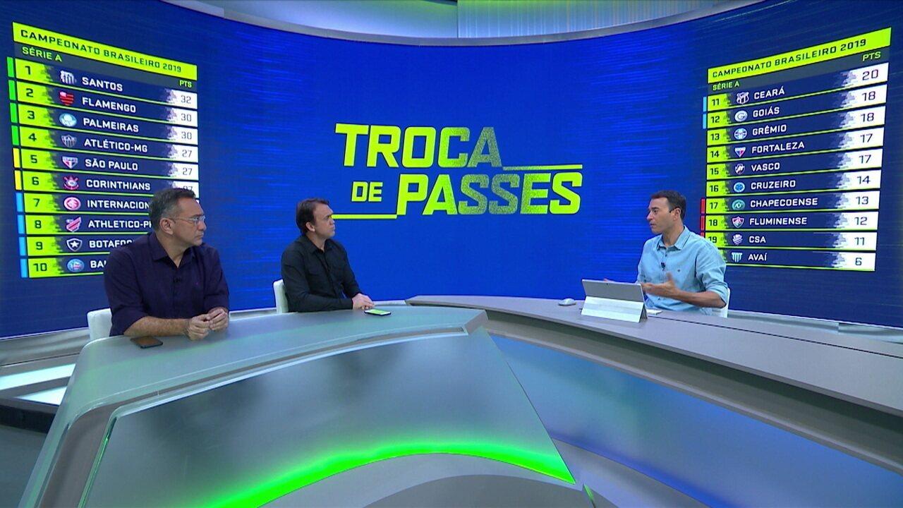 Comentaristas analisam sobe e desce na tabela do Campeonato Brasileiro