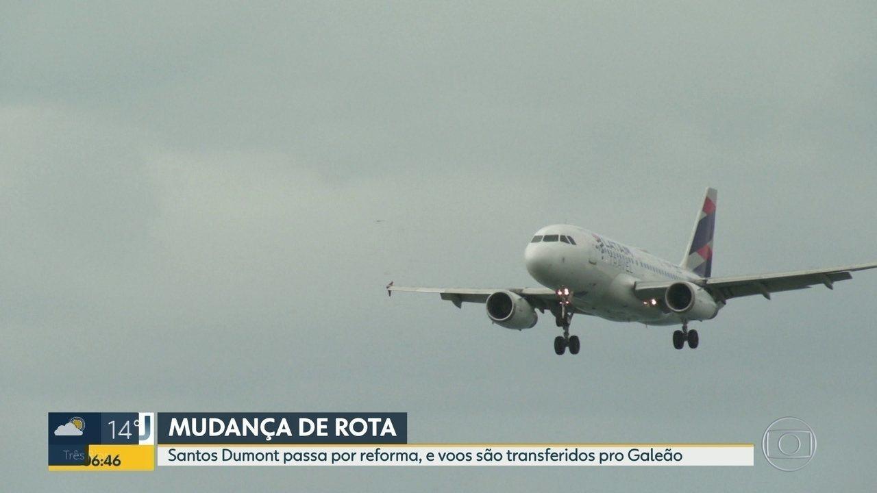 Vôos do Aeroporto Santos Dumont serão transferidos pro Galeão