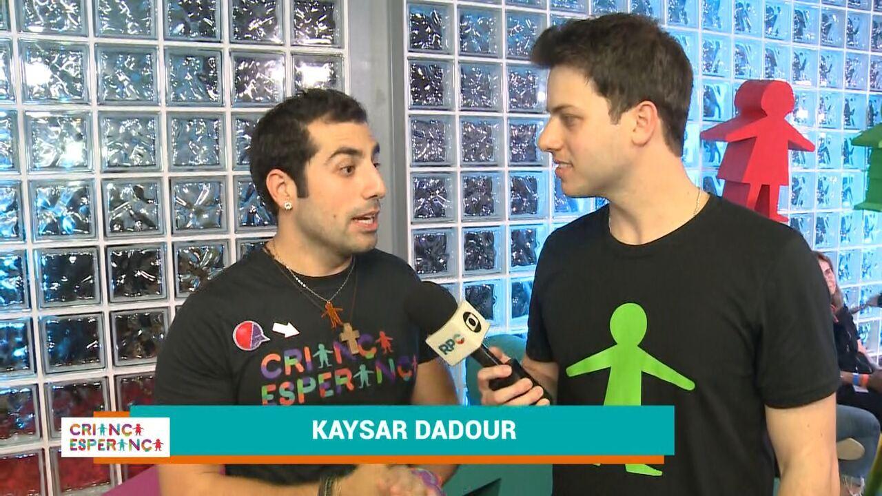 Kaysar Dadour fala sobre sua participação no Criança Esperança