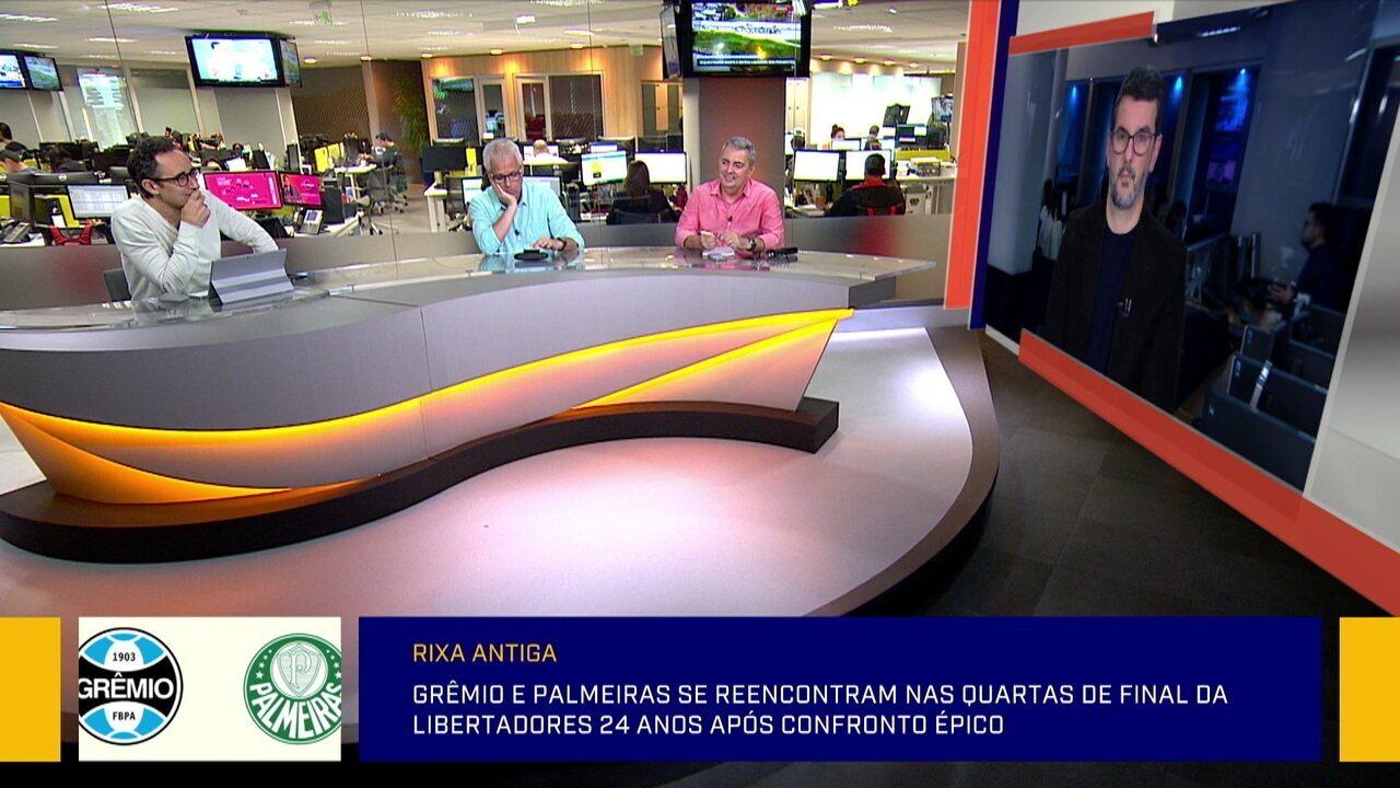 Comentaristas discutem se Felipão é mais importante para Grêmio ou Palmeiras