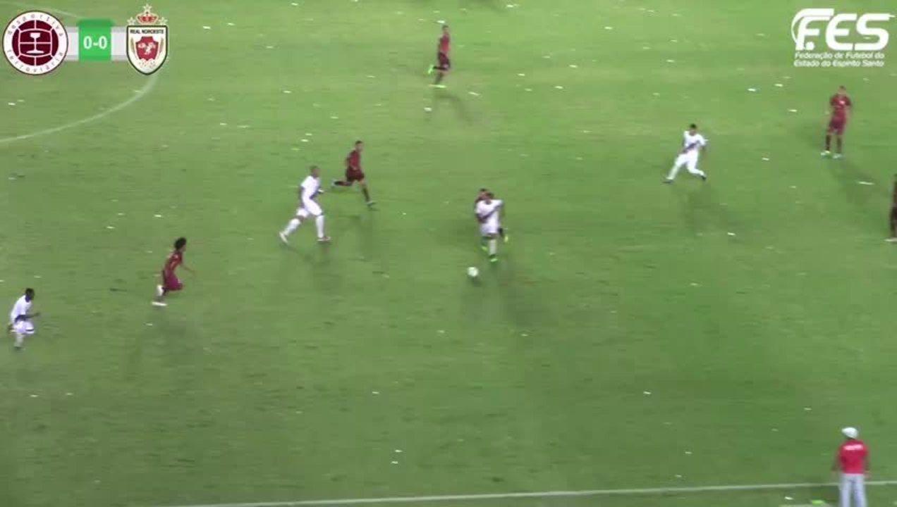 O gol de Desportiva Ferroviária 0 x 1 Real Noroeste, pela Copa Espírito Santo 2019
