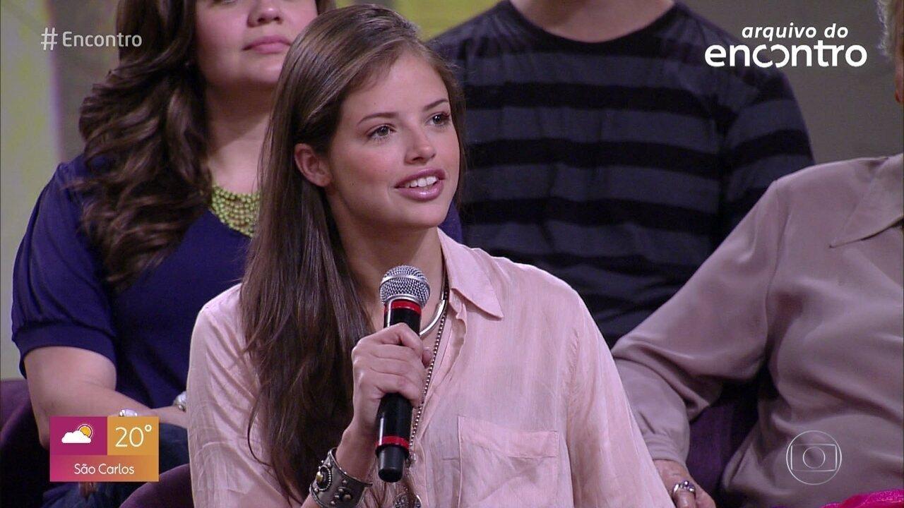 Relembre participação de Agatha Moreira no 'Encontro' em 2012