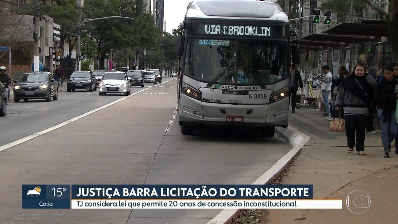 Mega licitação do transporte público da capital é suspensa