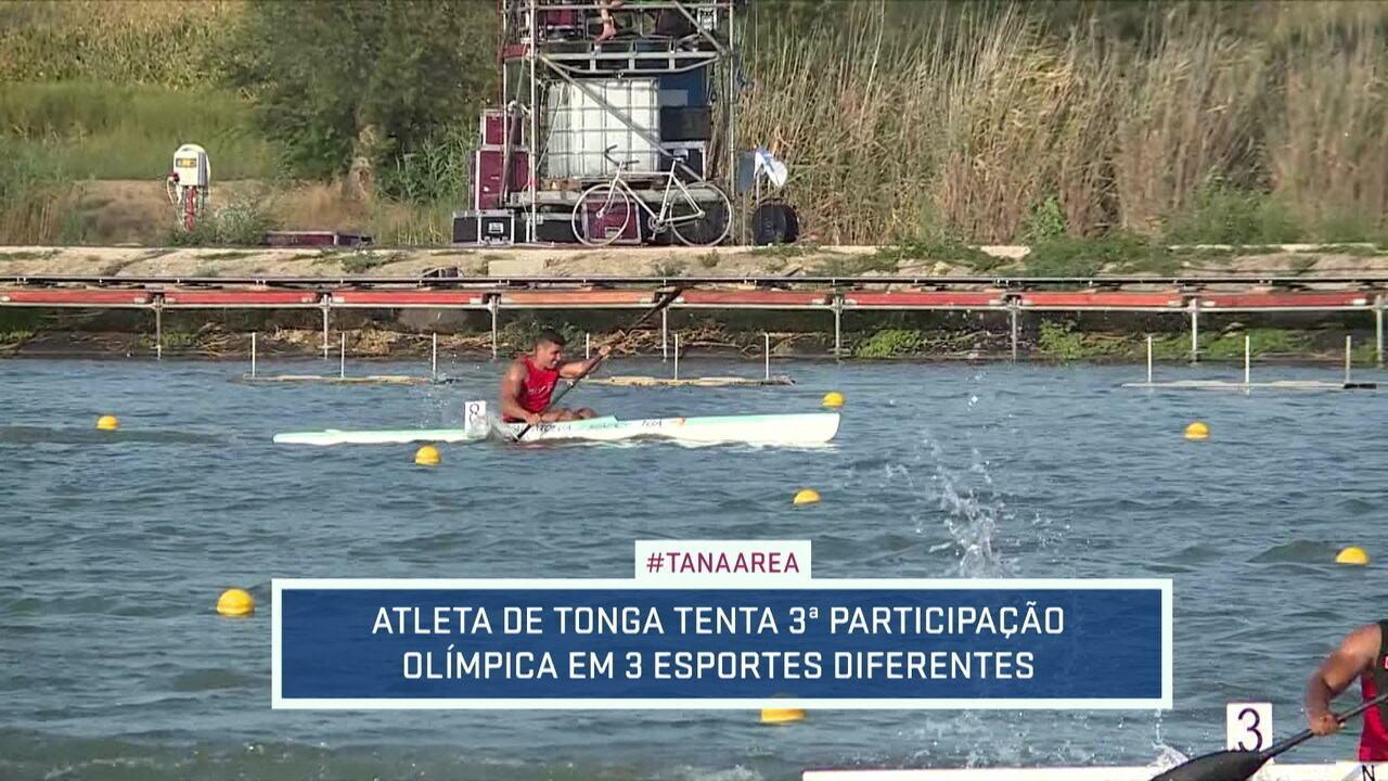 Pita Taufatofua tenta ir à terceira Olímpíada na terceira modalidade diferente: foco, agora é a canoagem velocidade