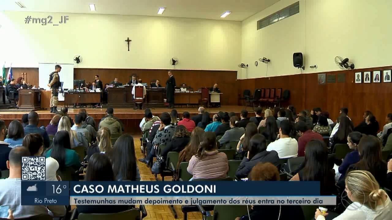 Julgamento do caso Matheus Goldoni chega ao terceiro dia em Juiz de Fora