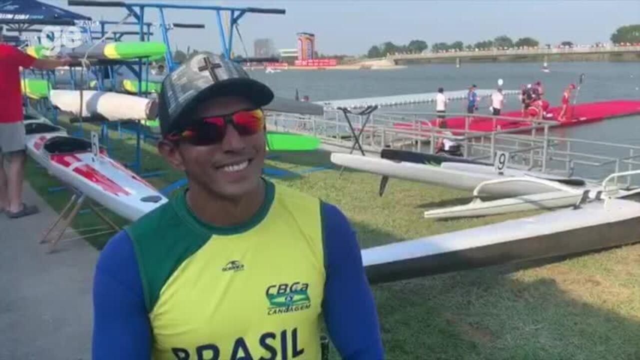 """Após ouro no Mundial, Luis Carlos Cardoso festeja vaga em Tóquio 2020: """"Felicidade imensa"""""""