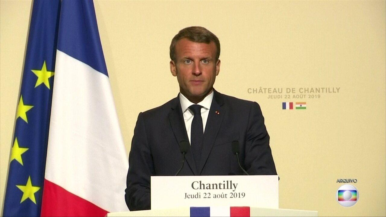 """Emmanuel Macron diz que Bolsonaro """"mentiu"""" sobre compromissos ambientais no G-20"""
