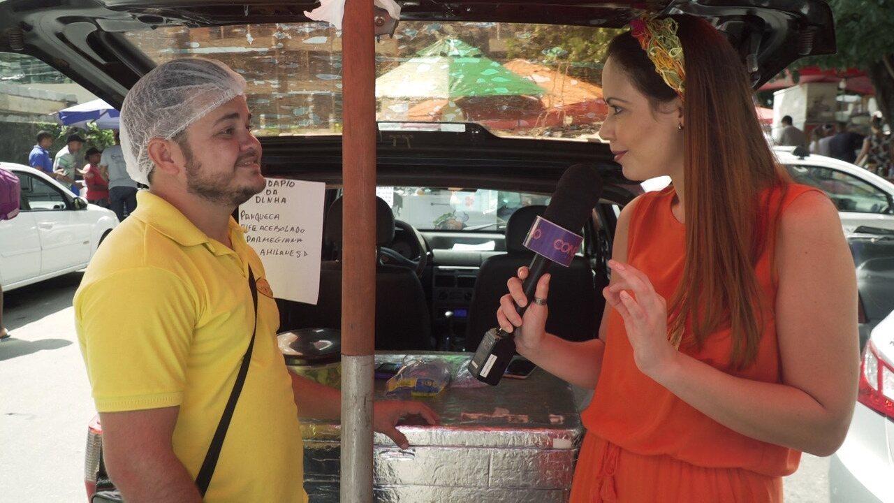 Briza Menezes conhece os marmiteiros de rua