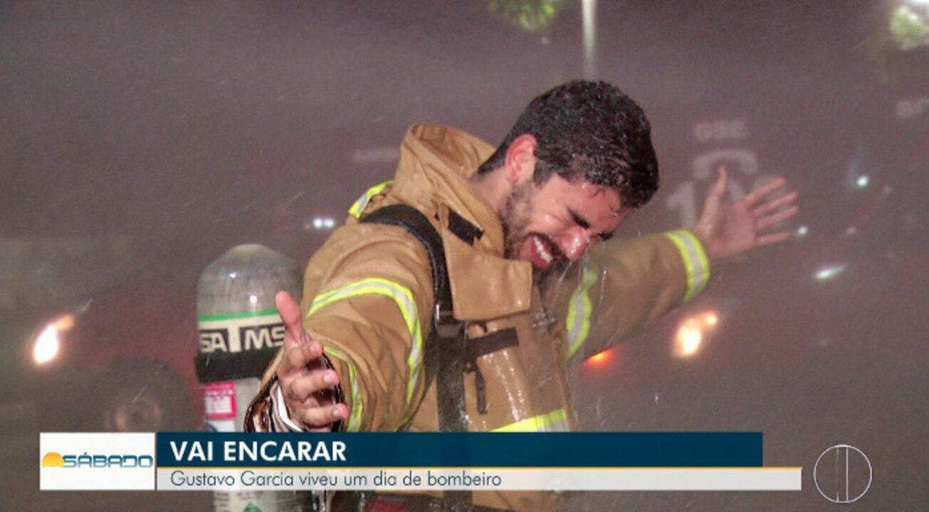 'Vai Encarar?': Gustavo Garcia vive dia como bombeiro