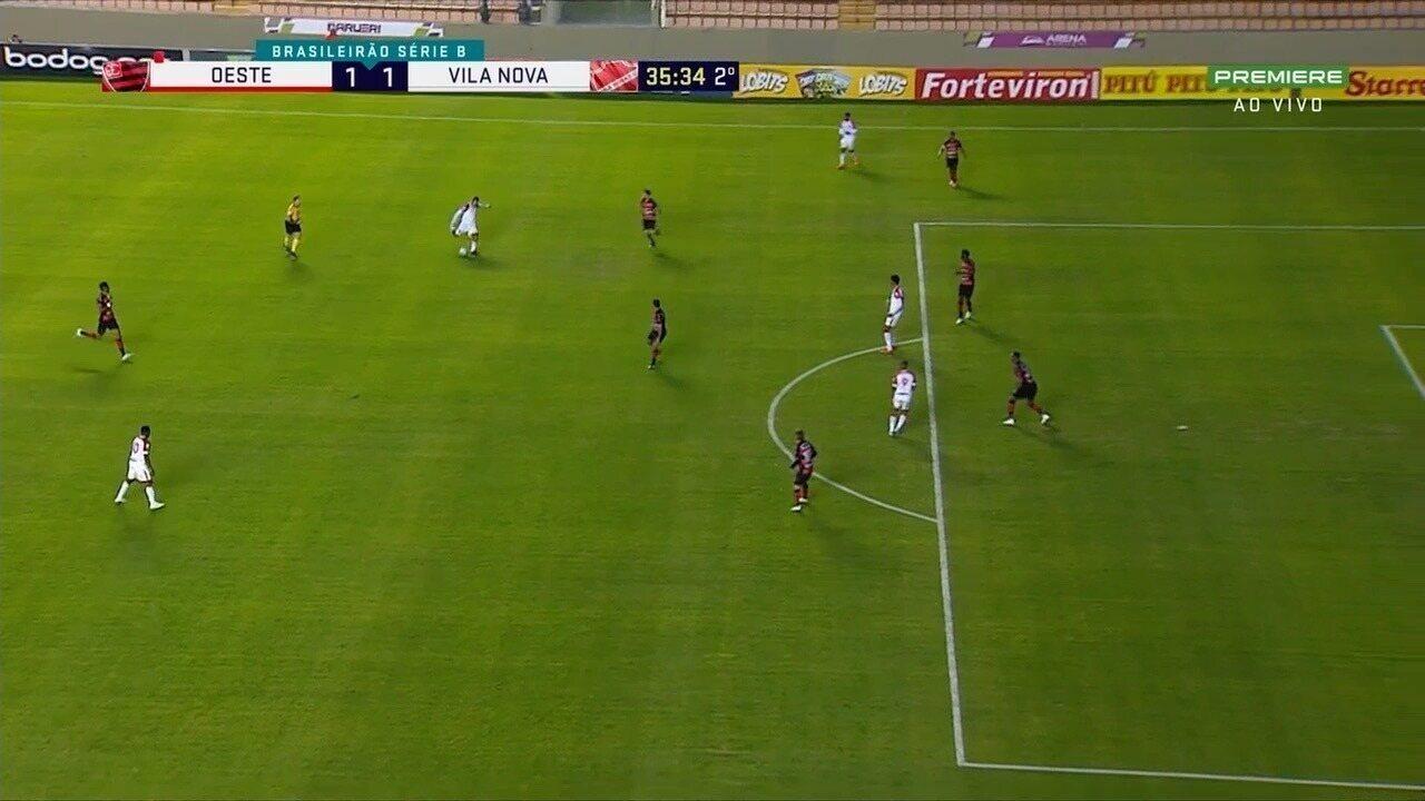Os melhores momentos de Oeste 1x1 Vila Nova pela Série B