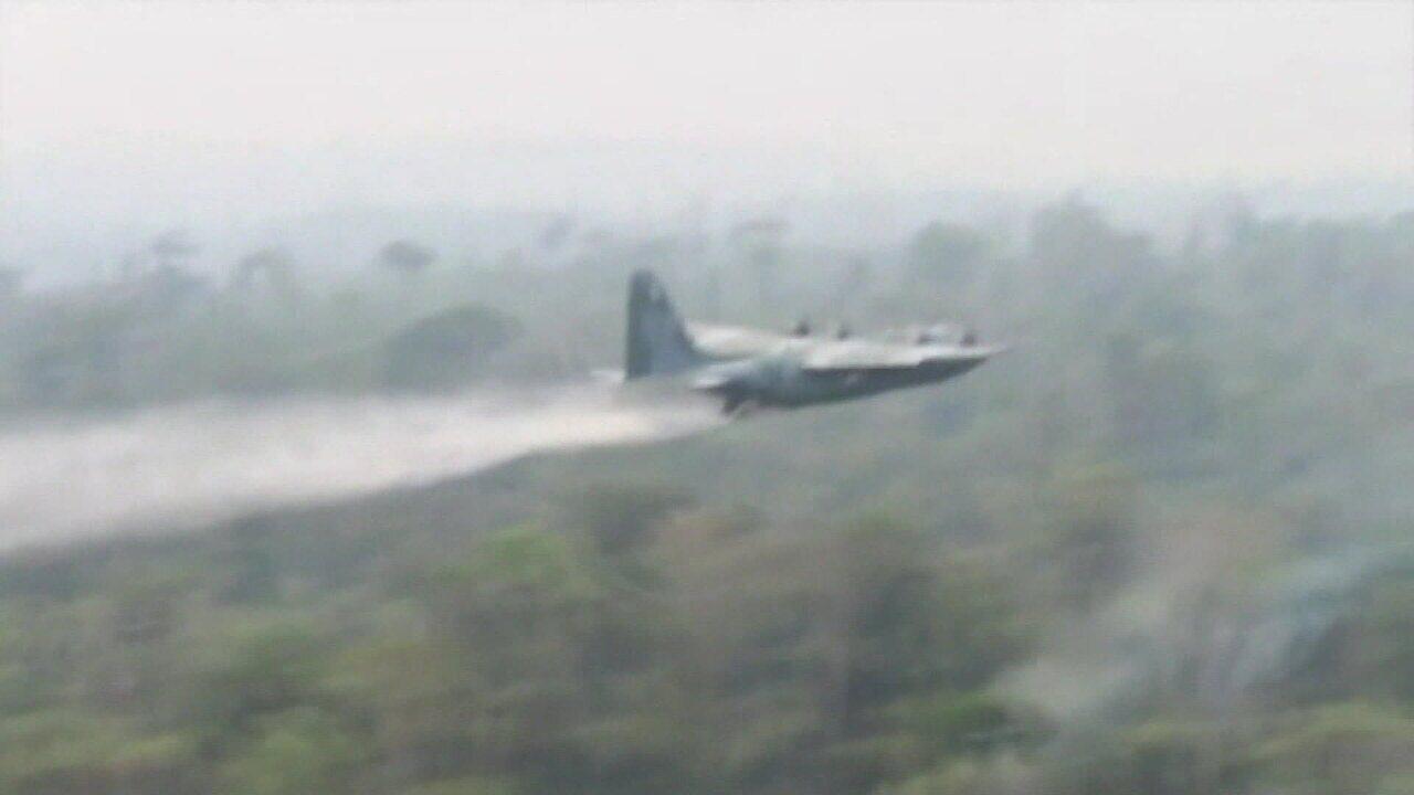 Aviões da FAB começam a combater focos de incêndio na Amazônia