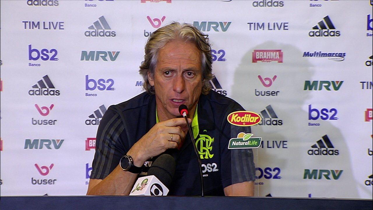Jorge Jesus fala sobre a situação de Cuéllar no Flamengo