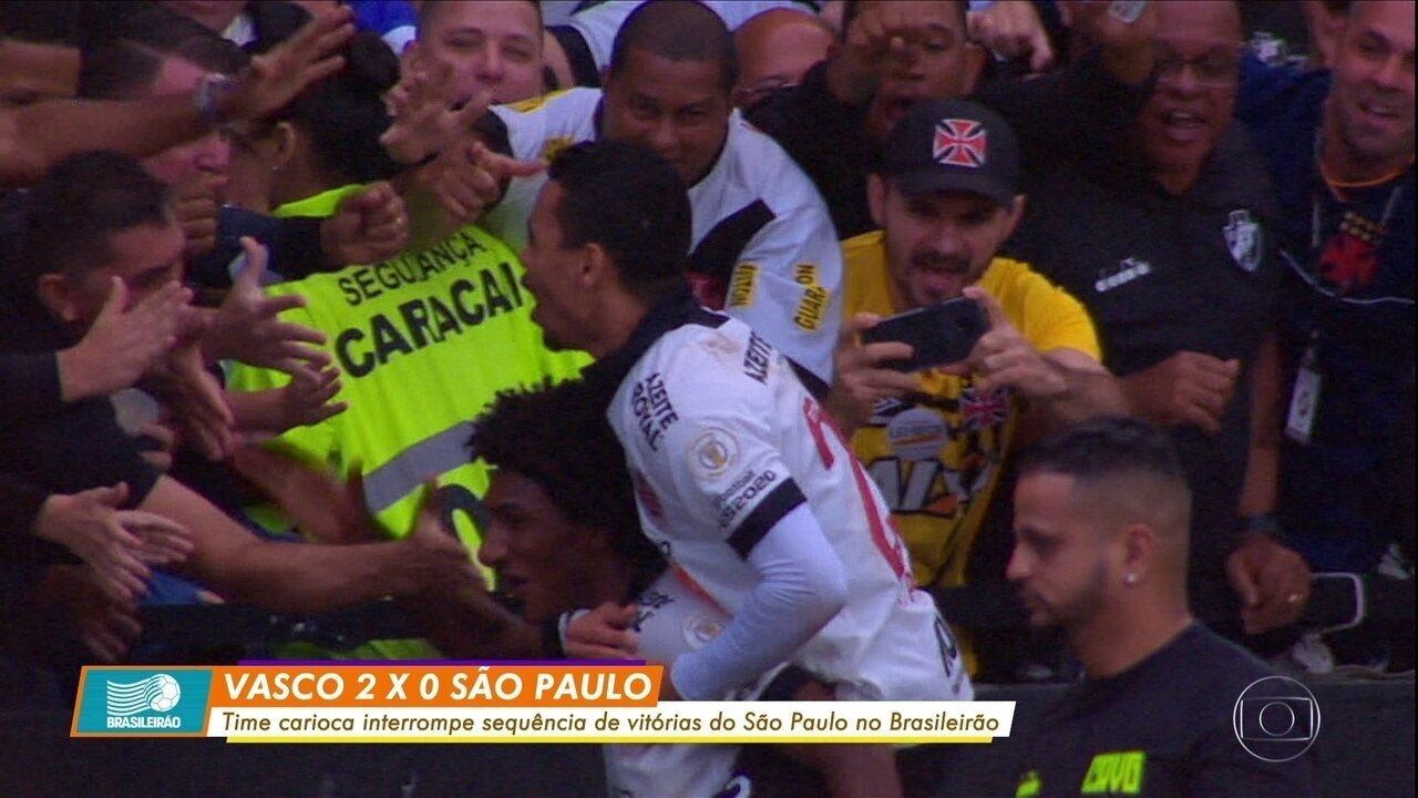 Vasco vence São Paulo com show de Talles Magno