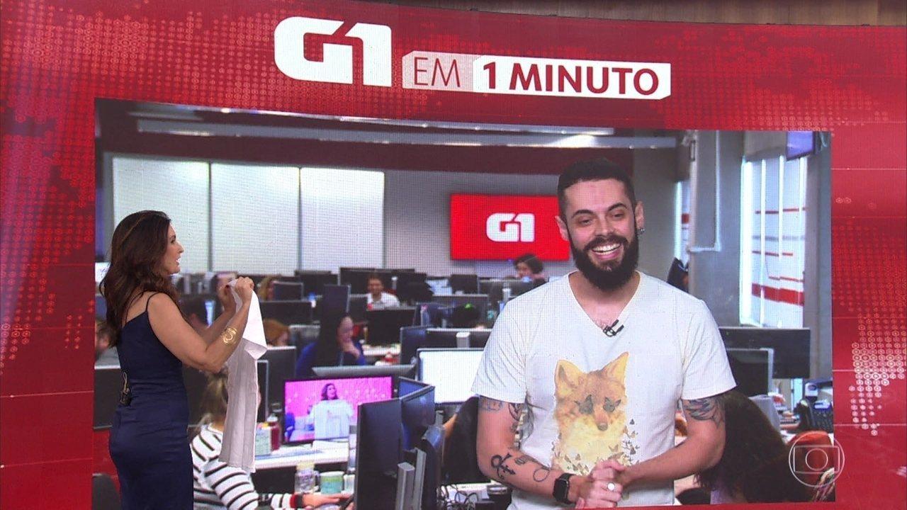Cauê Fabiano se despede do 'G1 em Um Minuto'