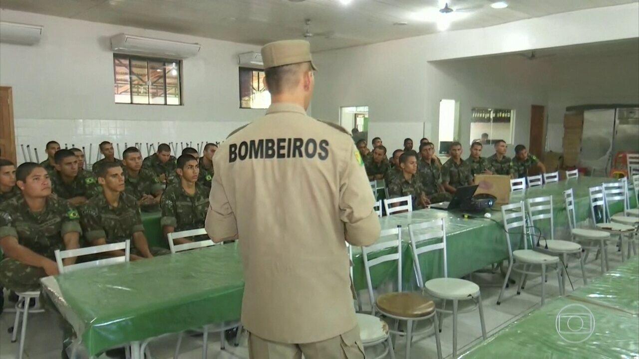 Militares ainda não começaram a trabalhar no combate aos incêndios em campo, no Pará