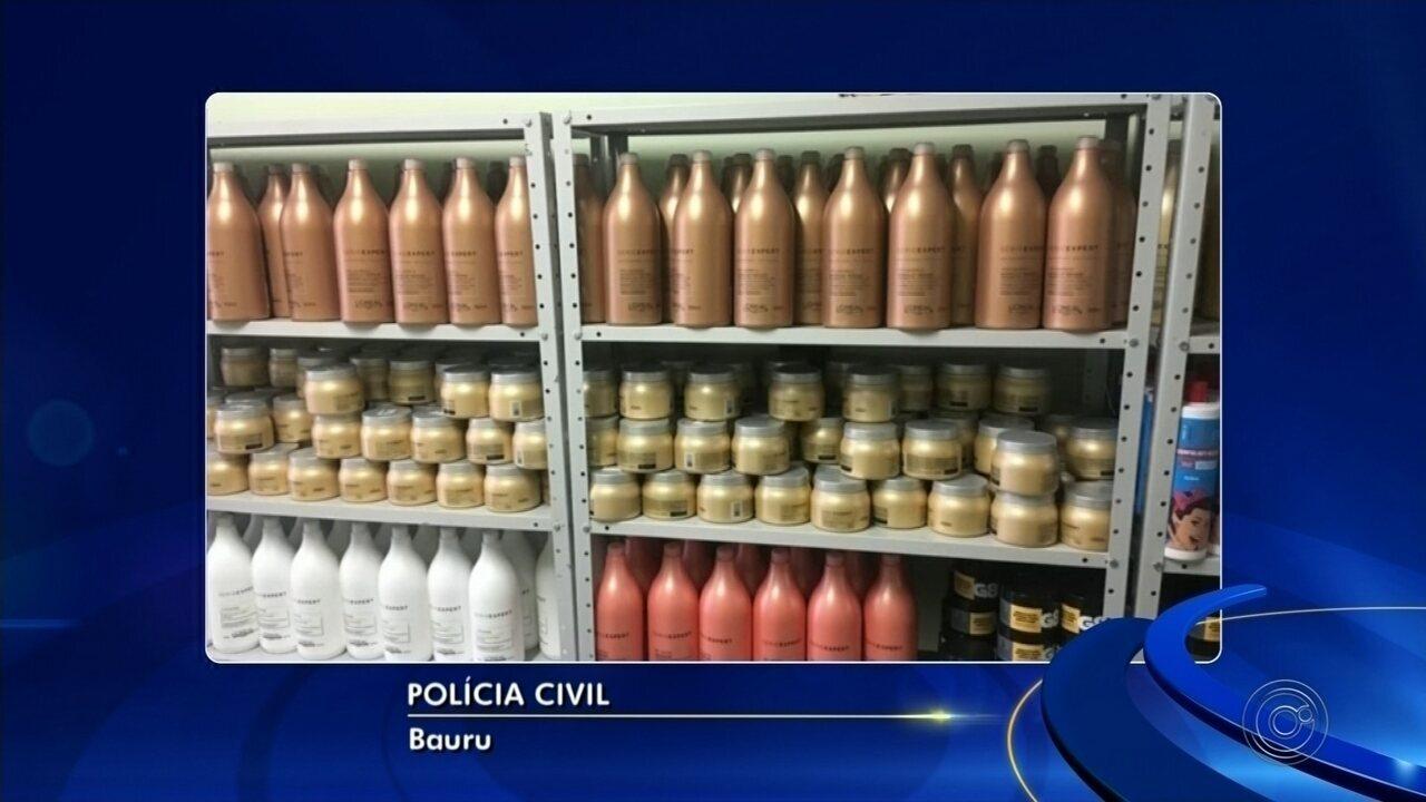 Polícia prende suspeito de vender cosméticos adulterados na internet