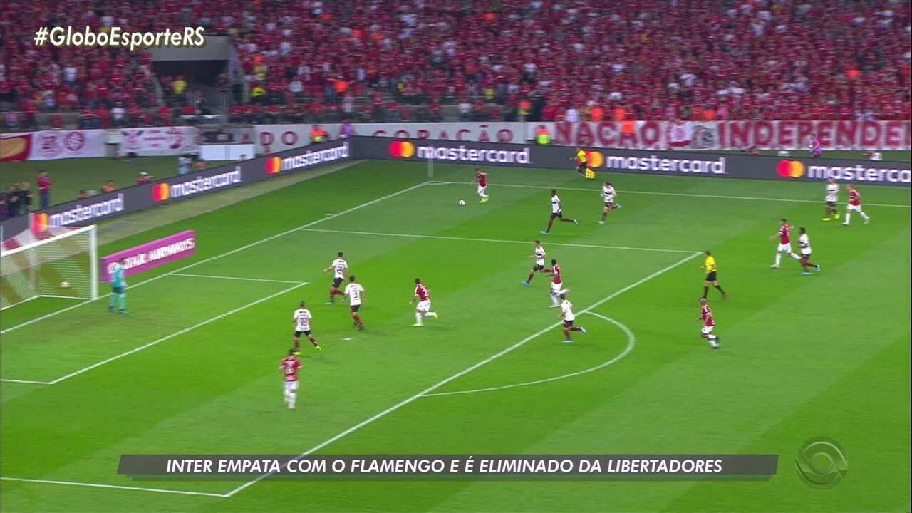 Inter empata com Flamengo e é eliminado da Libertadores