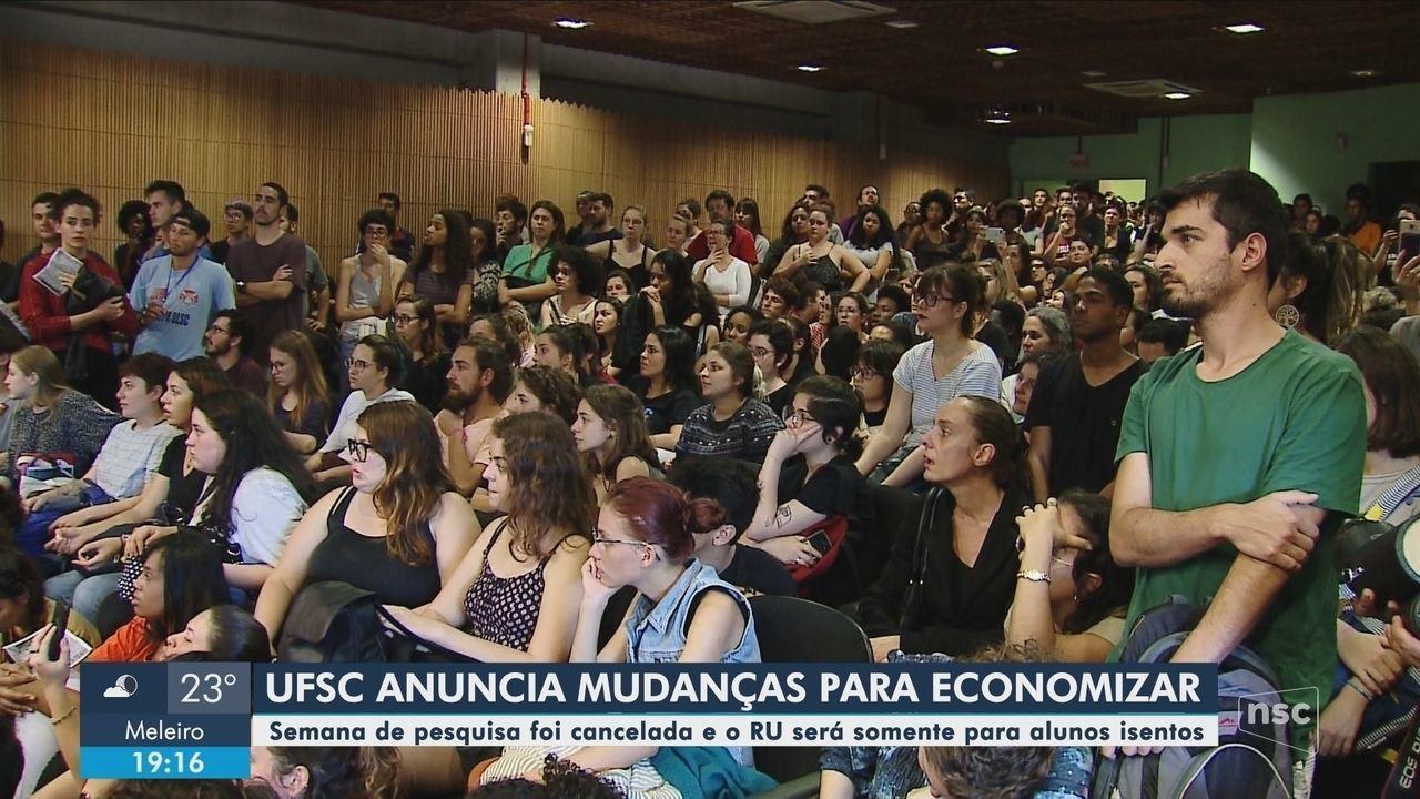 Reitor da UFSC apresenta à comunidade acadêmica medidas para contenção de gastos