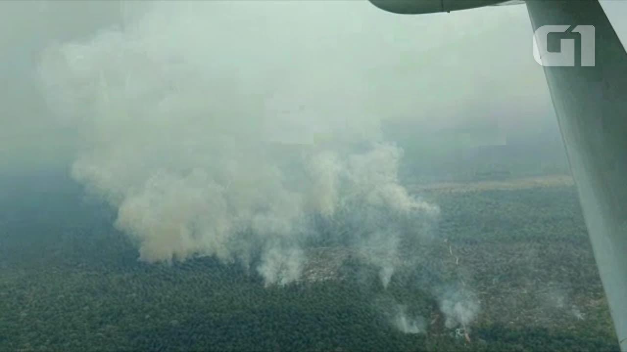 G1 sobrevoa áreas com queimadas no sul do Amazonas