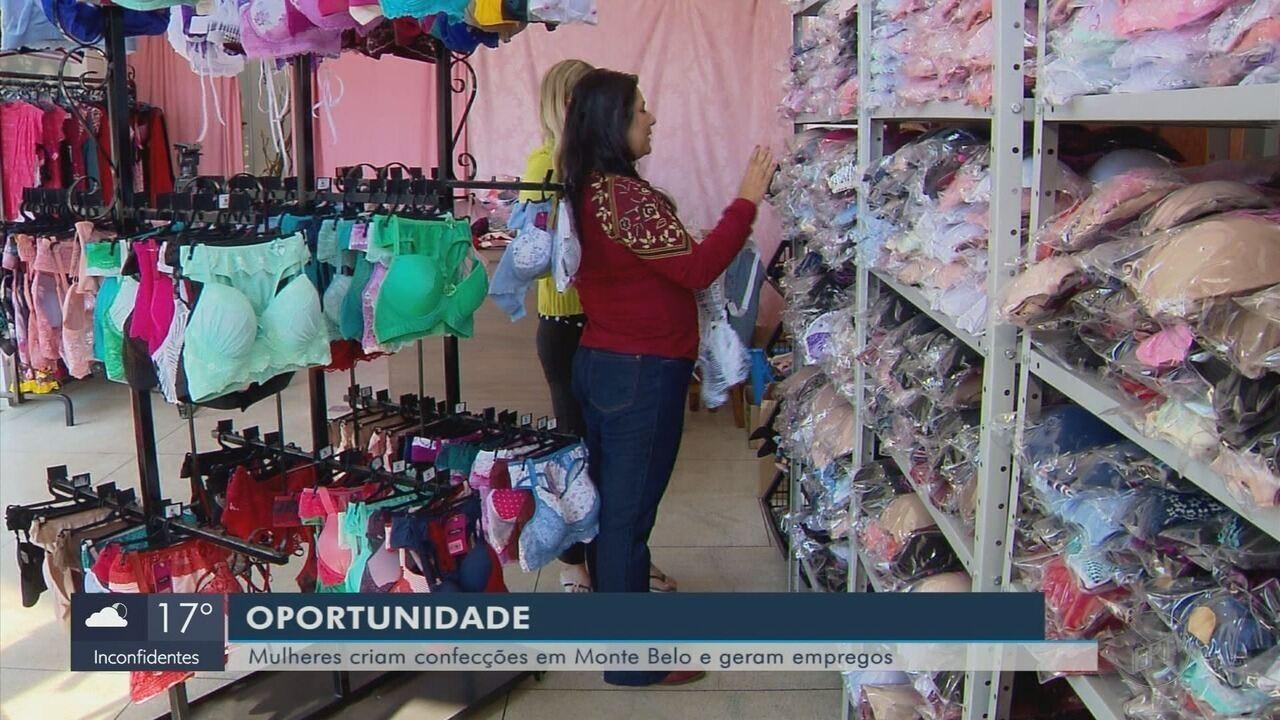 Confecções de lingerie invadem a zona rural e geram empregos em Monte Belo (MG)