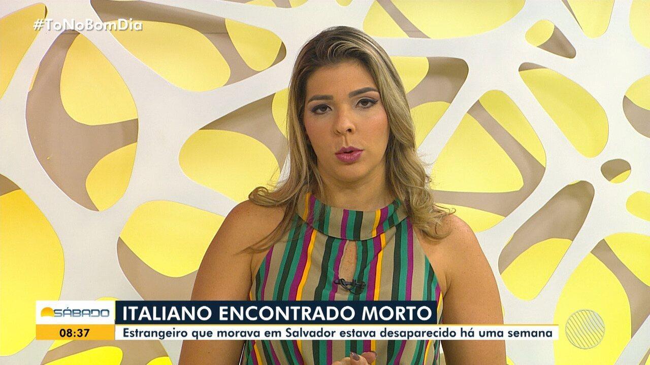 Italiano desaparecido há uma semana é encontrado morto em Simões Filho