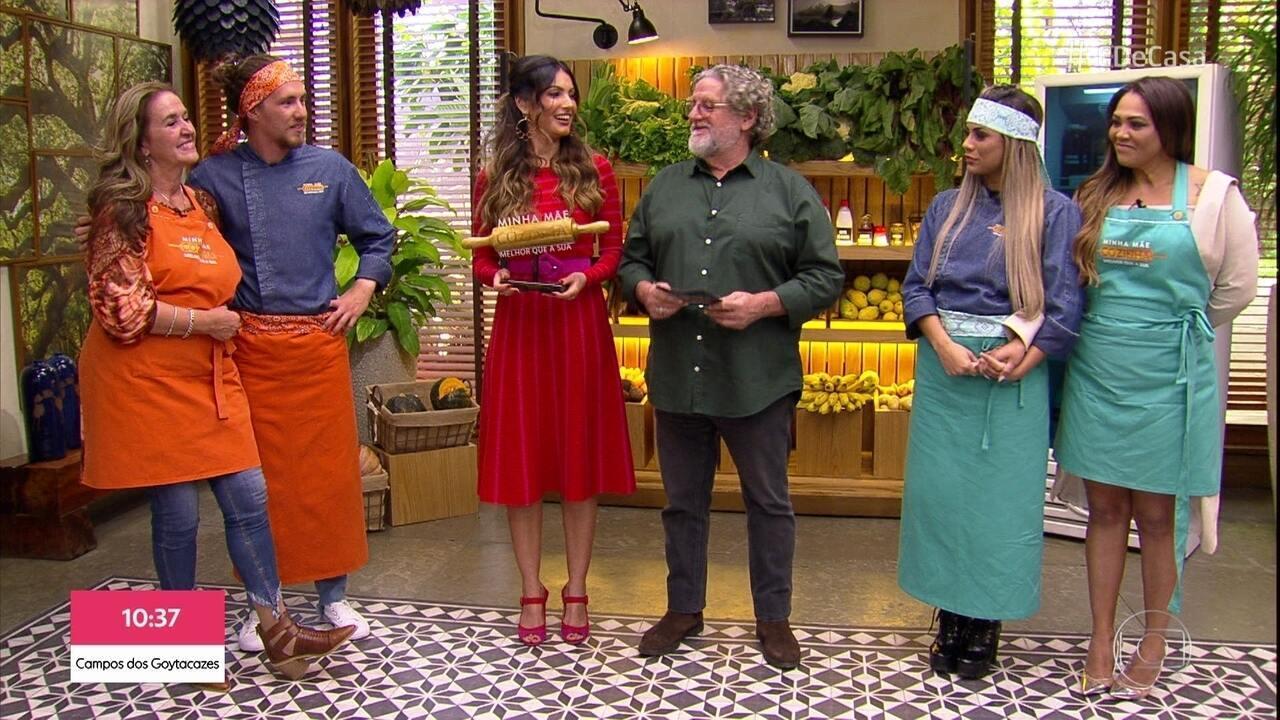 Chef Roberto Ravioli avalia os pratos de Lexa e Vitor Kley