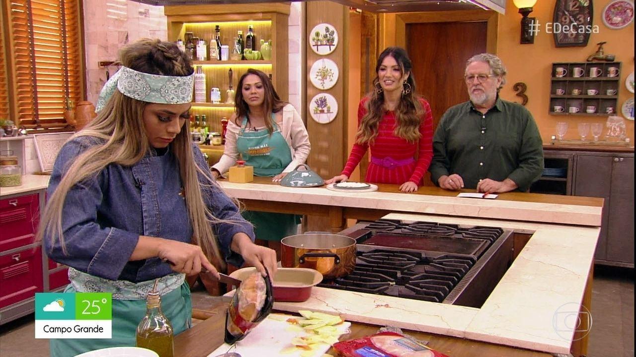 Lexa enfrenta Vitor Kley no 'Minha Mãe Cozinha Melhor que a Sua'